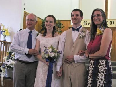 Bride, groom and bride's parents.